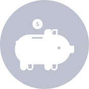 icon of a piggy bank with a coin - tax savings calculator